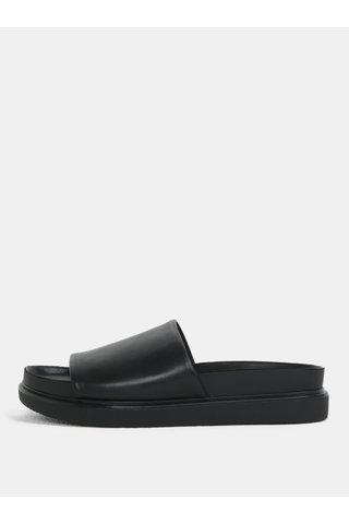 Papuci de dama negri din piele naturala cu platforma Vagabond Erin