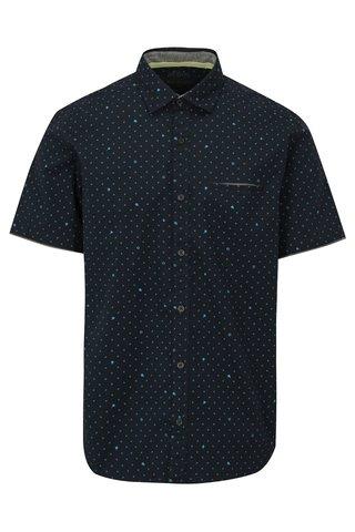 Tmavě modrá pánská regular fit košile se vzorem s.Oliver