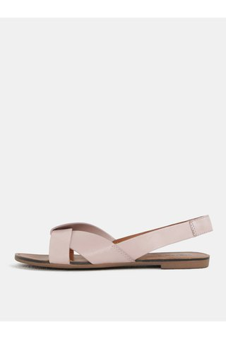Sandale de dama roz deschis din piele naturala Vagabond Tia