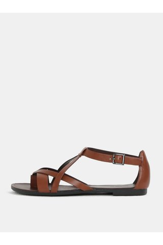 Sandale de dama maro din piele naturala Vagabond Tia