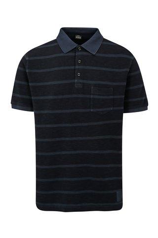 Tmavě modré pruhované pánské regular fit polo tričko s.Oliver