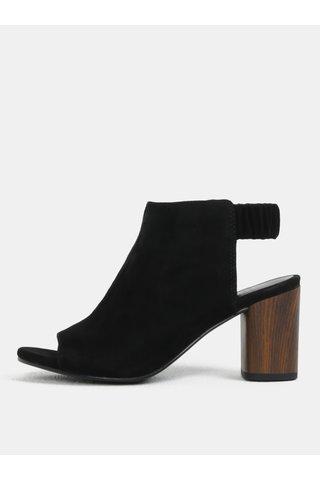 Sandale de dama negri din piele intoarsa cu toc inalt Vagabond Carol