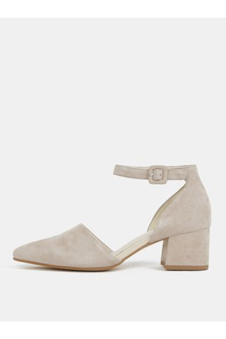 Sandale de dama crem din piele intoarsa Vagabond Mya