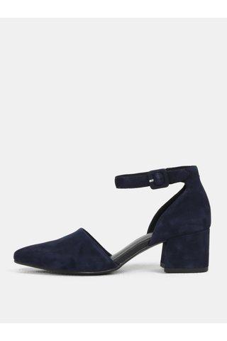 Sandale de dama albastru inchis din piele intoarsa Vagabond Mya