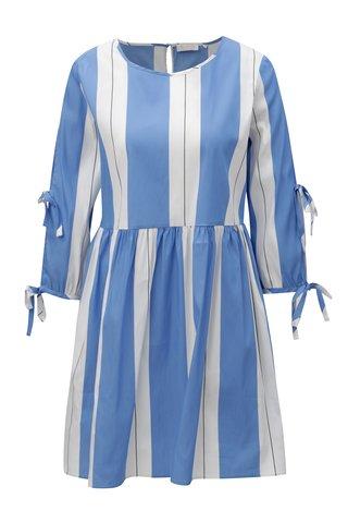 Rochie alb-albastru in dungi Rich & Royal