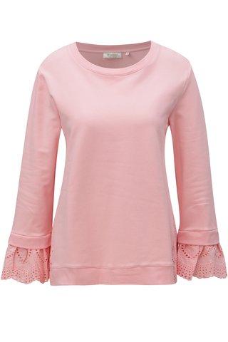 Bluza sport roz deschis cu model brodat Rich & Royal