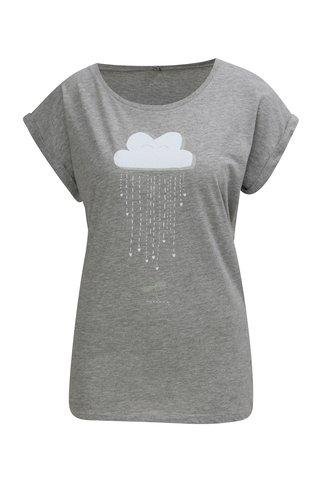 Tricou gri inchis cu print ZOOT Original Maternity