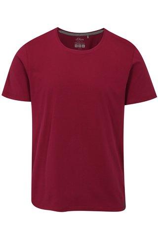 Tmavě růžové pánské regular fit tričko s.Oliver