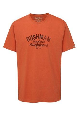 Tricou barbatesc oranj cu print BUSHMAN Cornhill