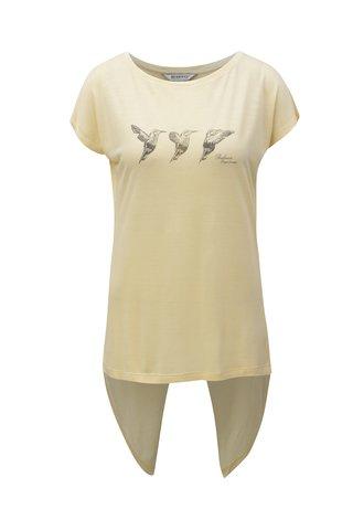 Tricou de dama galben deschus cu spate suprapus BUSHMAN Fruita