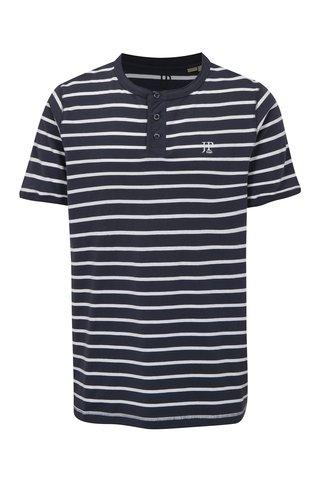 Tricou alb-albastru in dungi cu nasturi mici JP 1880
