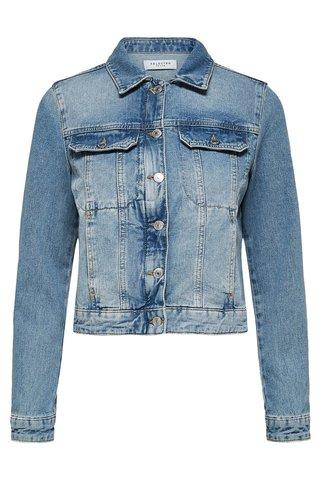 Jacheta albastra din denim Selected Femme Day