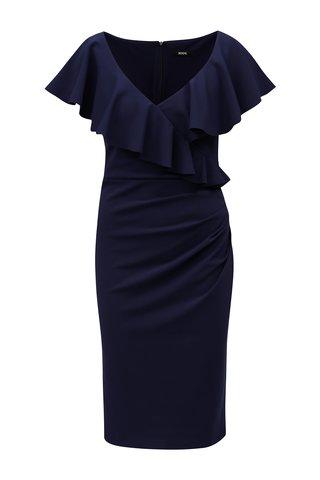 Tmavě modré šaty s volány ZOOT
