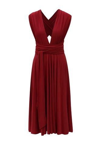 Vínové variabilní šaty/sukně 2v1 ZOOT