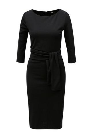 Černé šaty s uzlem ZOOT