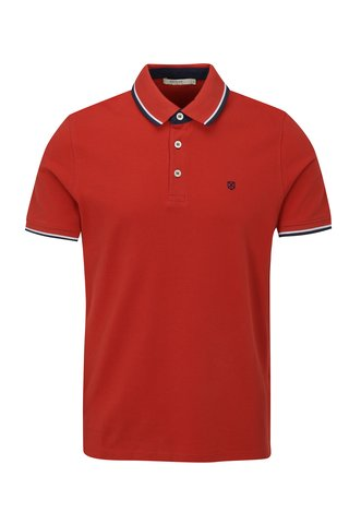 Tricou polo rosu Jack & Jones Paulos Play
