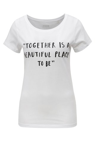 Tricou de dama alb cu print ZOOT Together