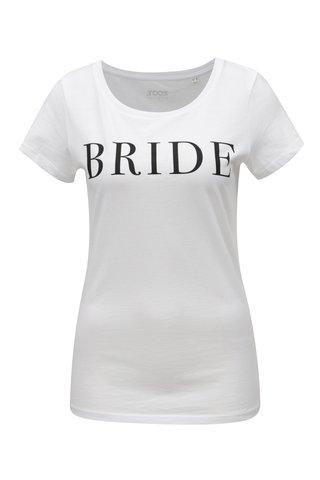 Tricou de dama alb cu print ZOOT Bride