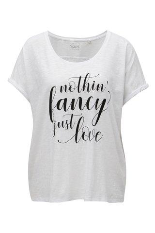 Tricou de dama alb cu print ZOOT Just love