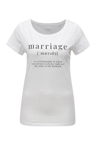 Tricou de dama alb cu print ZOOT Marriage