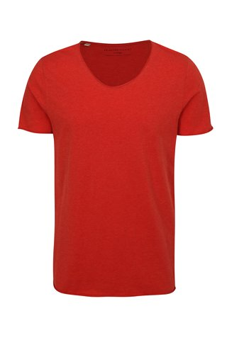 Tricou rosu Selected Homme Shine