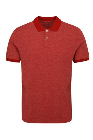 Tricou polo rosu Selected Homme Slub
