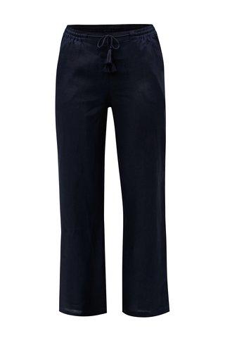 Pantaloni albastru inchis lejeri din in Ulla Popken