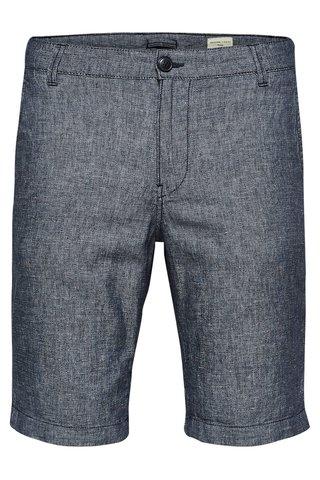 Pantaloni scurti albastru inchis melanj din in Selected Homme Paris