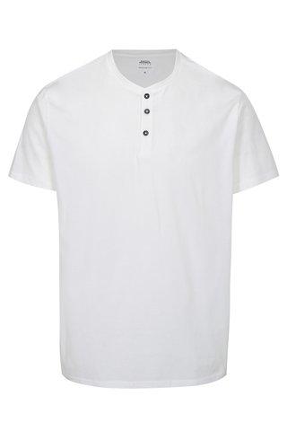 Tricou alb cu nasturi mici Burton Menswear London