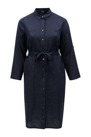 Rochie tunica albastru inchis din in Ulla Popken