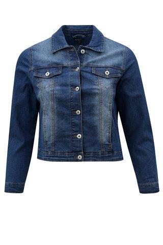 Jacheta albastra din denim Ulla Popken