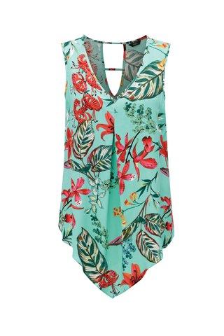 Zelená květovaná halenka s pásky na zádech M&Co