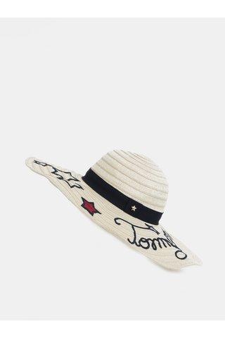 Krémový dámský klobouk s výšivkamiTommy Hilfiger