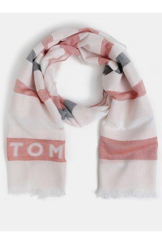 Červeno-bílý šátek Tommy Hilfiger