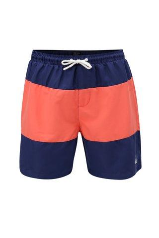 Pantaloni scurti de baie barbatesti rosu-albastru M&Co