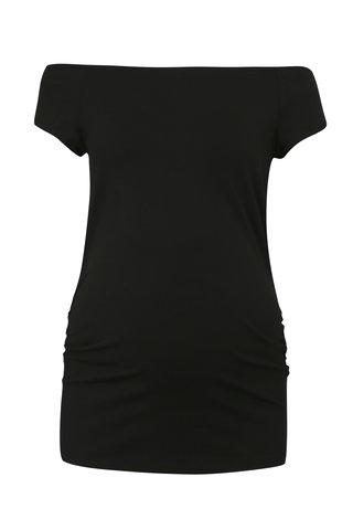 Tricou negru cu decolteu pe umeri pentru femei insarcinate Dorothy Perkins Maternity