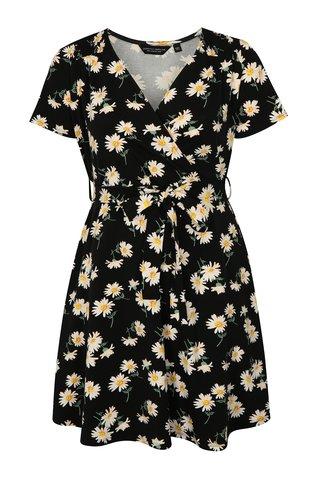 Rochie neagra cu model floral si maneci scurte Dorothy Perkins Curve