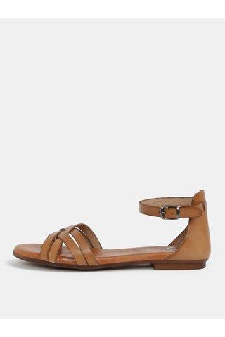 Sandale maro din piele naturala OJJU