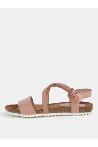 Sandale roz prafuit din piele naturala OJJU