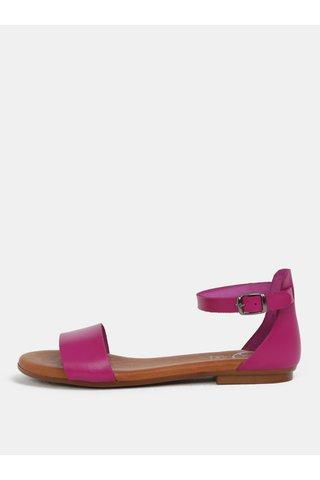 Sandale roz din piele naturala OJJU