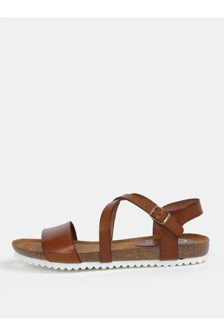 Sandale maro inchis din piele naturala OJJU