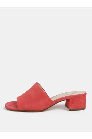 Růžové pantofle na podpatku Högl