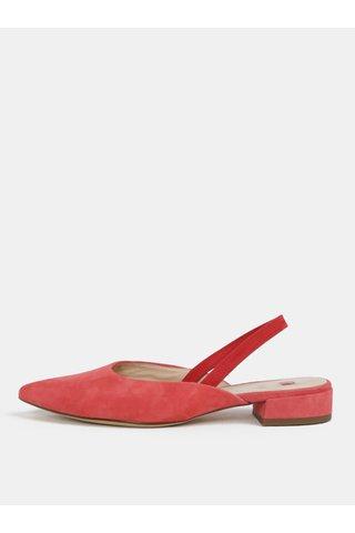 Papuci roz din piele intoarsa Högl