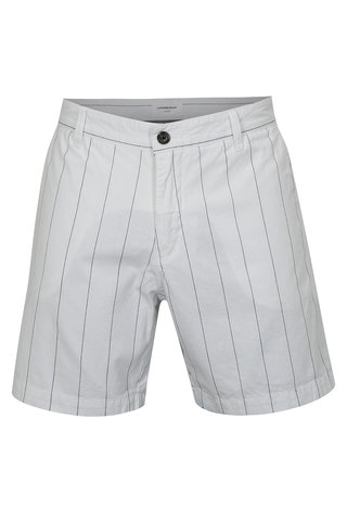 Pantaloni scurti albi in dungi Lindbergh