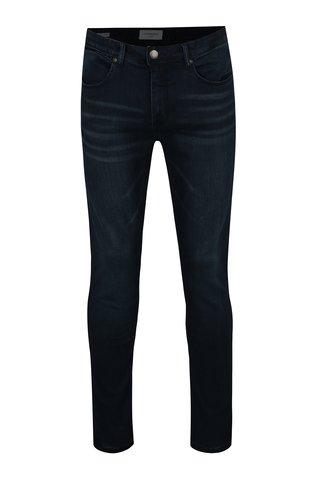 Tmavě modré slim fit džíny s vyšisovaným efektem Lindbergh