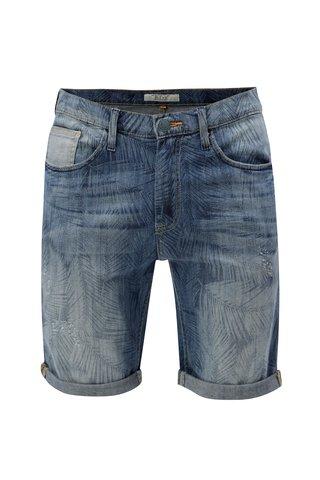 Modré džínové kraťasy s jemným vzorem Blend