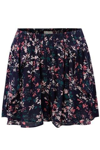 Pantaloni scurti albastru inchis cu model floral Blendshe Pinkie