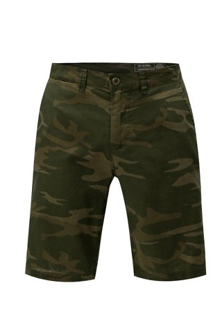 Pantaloni scurti verde chino din in cu model camuflaj Blend