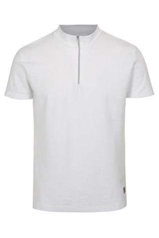 Tricou alb cu fermoar Lindbergh