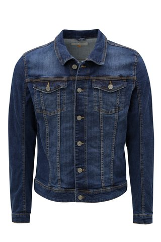 Jacheta albastru inchis din denim Blend